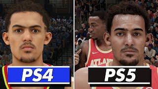 NBA 2K21 - PS5 vs PS4 (Face/Graphics/Load Times/Gameplay) COMPARISON   Next Gen vs Current Gen