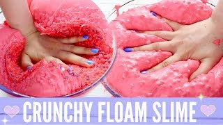 How To Make GIANT Super Crunchy Dried Up Floam Slime | DIY Crunchy Fluffy Slime +  Satisfying ASMR