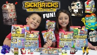 SICK BRICKS Epic Toy Review w/ Animated Fun! HUGE UNBOXING w/ FGTEEV Kids (23 Toys)