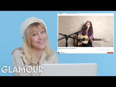 Grace VanderWaal Watches Fan Covers On YouTube | Glamour