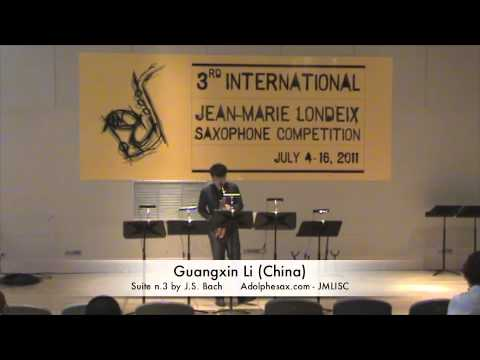 3rd JMLISC: Guangxin Li (China) Suite n.3 by J.S. Bach