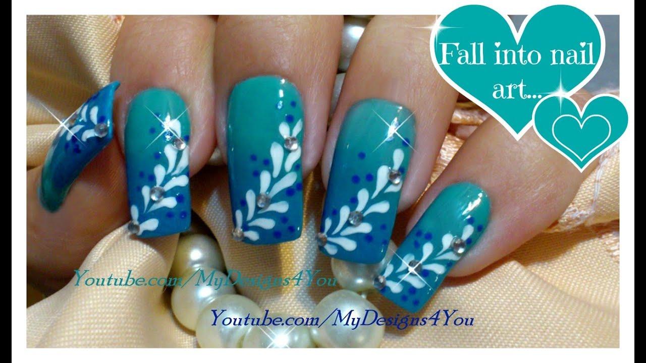 Light Blue Acrylic Nails Ombre