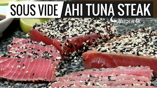 Sous Vide Ahi Tuna Steak, The best fish we had so far! Sous Vide is perfect for this!