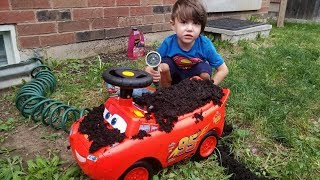 Zack and Disney Cars Lightning McQueen Car Wash