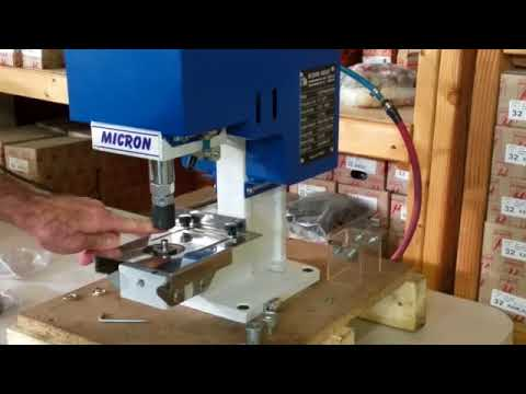 Micron MC 20 Grommet Installation Machine Installing Custom Die Set