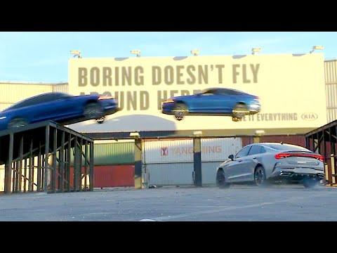 NEW 2021 Kia K5 flies through the air ? Triple Threat Stunt | New Name of the Kia Optima