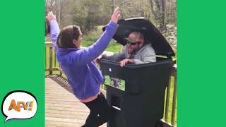 She'll NEVER Trust a Trashcan AGAIN! 😂 | Funny Pranks & Fails | AFV 2021