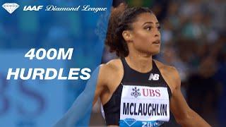 20 year-old Sydney McLaughlin wins the 400m hurdles final in Zurich - IAAF Diamond League 2019