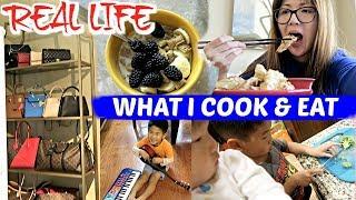 REAL LIFE VLOG 😱 WHAT I COOK IN A WEEK + NEW HANDBAG STORAGE SET UP 👜❤️ CHARIS