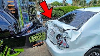 My Ford F-250 Crushed A Lady Car **oops*