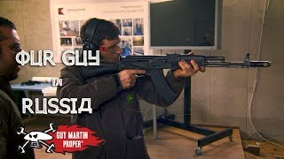 Guy Tries Out A Kalashnikov - Our Guy In Russia   Guy Martin Proper
