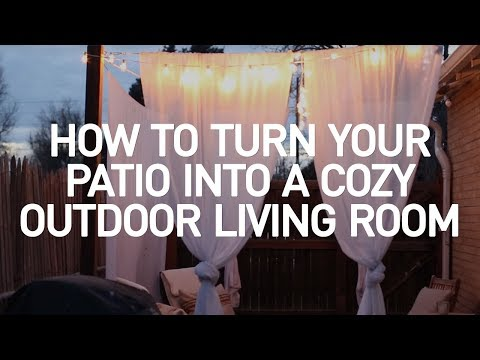 How to Turn Your Basic Patio into a Cozy Outdoor Living Room