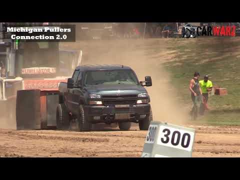 PRO Street Diesel Truck Class At WMP Truck Pulls In Morley Michigan 2018