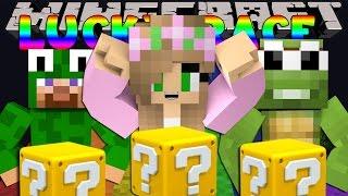 Minecraft Little Kelly : LUCKY BLOCK RACE W/LittleLizardG & TinyTurtleG