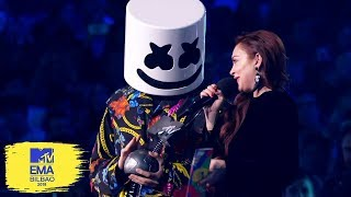 Marshmello Accepts Best Electronic Award | MTV EMAs 2018