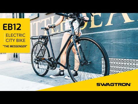 THE MESSENGER feat. SWAGTRON EB12 Electric City Bike