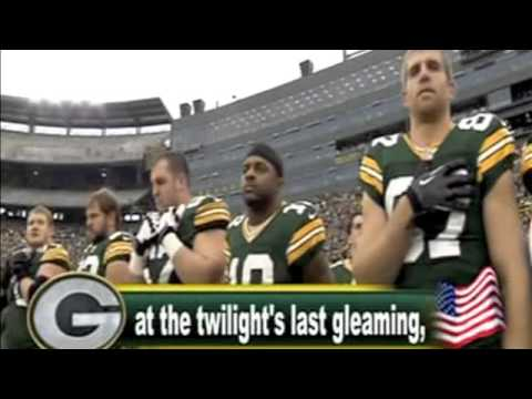 National Anthem at Green Bay Packers
