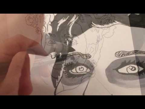 Process video of Inktober Sugar Skull Female with sharpies
