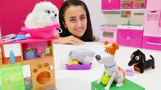 Eğlenceli video - Sevcan Barbie'nin evcil hayvanlarına bakıyor!