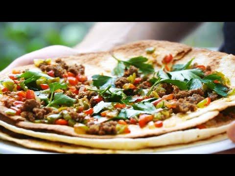 Быстрая пицца лахмаджун – Вкусная пицца без теста