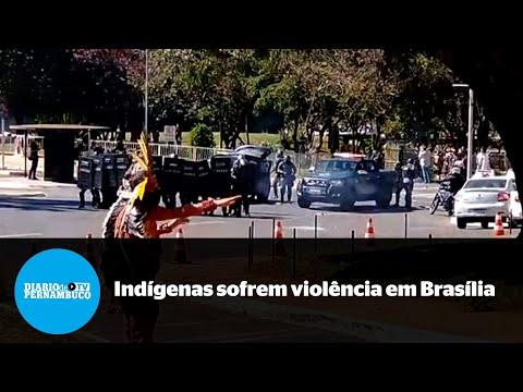 Protesto em Brasília acaba com conflito entre indígenas e policiais