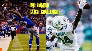 WHO CAN GET A ONE HANDED CATCH FIRST?!? BEST CATCH OF ALL TIME!! OBJ VS JARVIS LANDRY!!