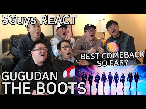 [FUNNY FANBOYS] GUGUDAN(구구단) - The Boots (5Guys MV REACT)