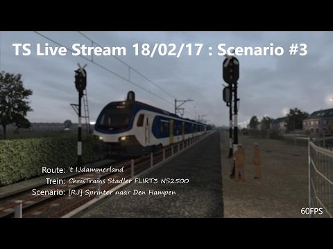 [RJ] Sprinter naar Den Hampen (Livestream 18/02/17)