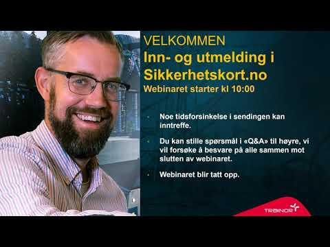 Webinar - Inn og utmelding av anlegg på sikkerhetskort.no
