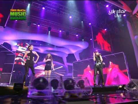 [HQ] 2NE1 - Fire + I Don't Care @2009 Melon Music Awards