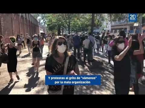 Aglomeraciones en Madrid para las pruebas de Covid a profesores tras ser avisados a última hora
