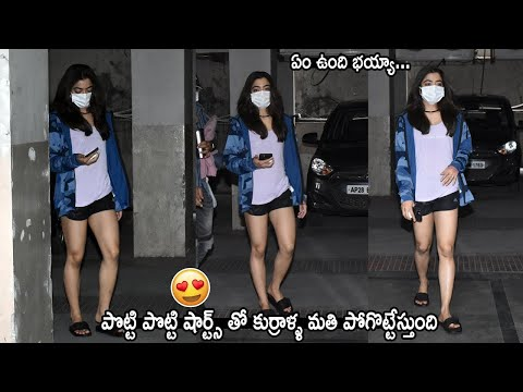 Actress Rashmika Mandanna's latest looks win hearts