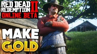Red Dead Online How To Make Money! Gold Bars & Money! Red Dead Redemption 2 (No Glitch)