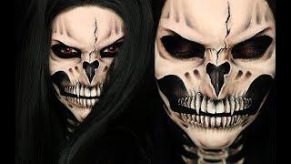 VAMPIRE SKULL Halloween Makeup Tutorial