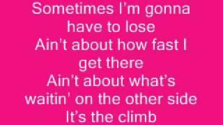 The Climb Hannah Montana+Lyrics