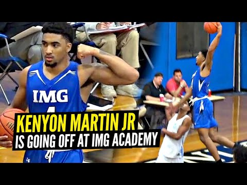 Kenyon Martin Jr Is a HIGH FLYING Double-Double MACHINE For IMG Academy!!!