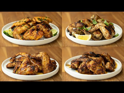 Grilled Wings 4 Ways Using Tasty Spices ? Tasty