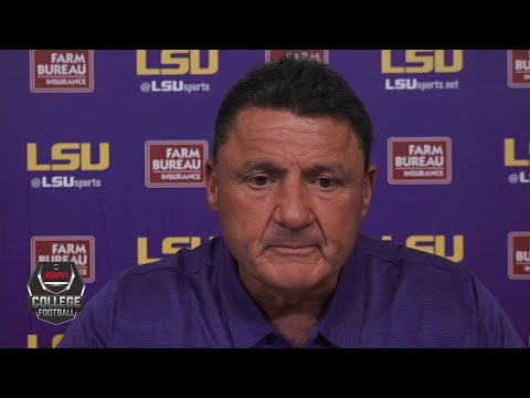 Ed Orgeron reacts to LSU's loss to Mississippi State | College Football on ESPN