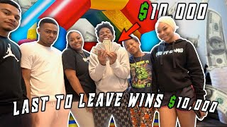 LAST TO LEAVE THE BOUNCE HOUSE GETS 10K DOLLARS! (no phone, food, sleep or water)