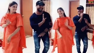 Khesari Lal और Sapna Choudhary भोजपुरी गाने पर डांस कर रहे है - Dance Video 2019