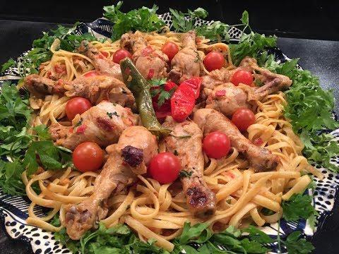 """المطبخ - طريقة عمل """"مكرونة بدبابيس الفراخ و الباربيكيو"""" على طريقة الشيف أسماء مسلم"""