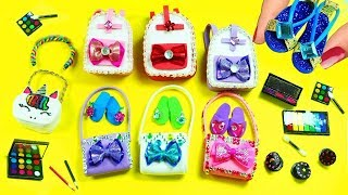 How to Make Miniature Stuff - 20 Easy DIY Miniature Doll Crafts in 10 minutes - Doll Accessories