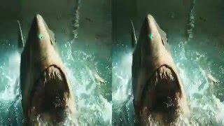 3D SBS Shark Bait Parody Music Video Stereoscopic Google Cardboard