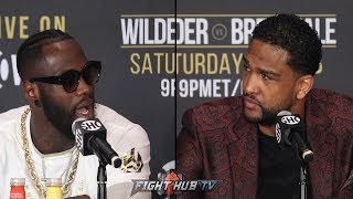 THE FULL TENSE DEONTAY WILDER VS. DOMINIC BREAZEALE FINAL PRESS CONFERENCE & FACE OFF VIDEO