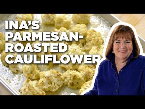 Ina's Parmesan-Roasted Cauliflower | Food Network