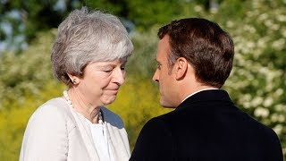 Macron's fond farewell to Theresa May