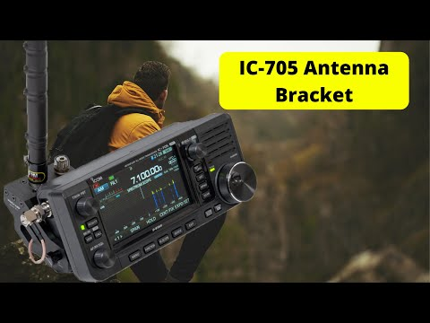 The Windcamp Quick Release Antenna Bracket for the Icom IC-705