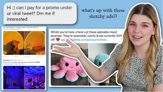 Exploring the Sketchy Ads Under Viral Tweets | Internet Analysis