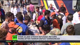 Over 25,000 Syrian refugees return home after terror defeat announced