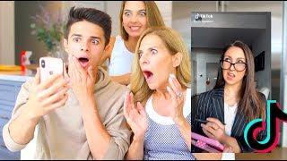 MOM REACTS TO TIKTOK TRENDS! | Brent Rivera